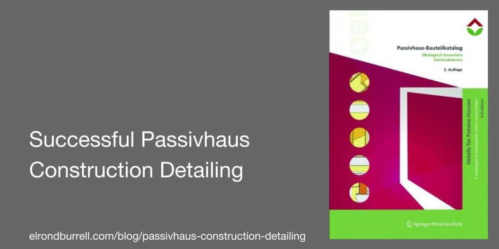 Successful Passivhaus Construction Details Cover