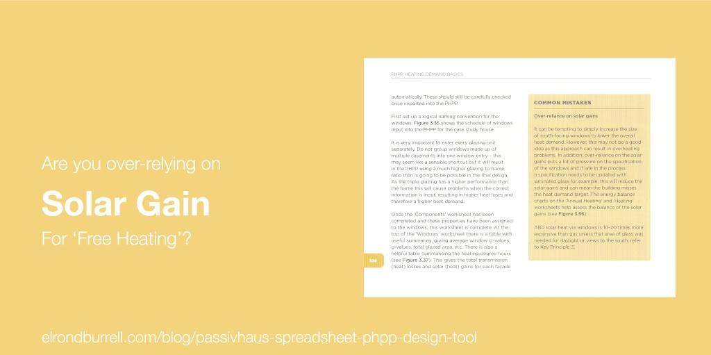 015 Passivhaus Spreadsheet PHPP Design Tool Common Mistake